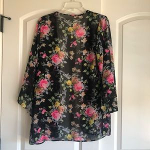 Like new, lightweight and sheer floral outerwear